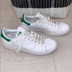 📌 Womens ADIDAS Stan Smith White/Green Sneakers